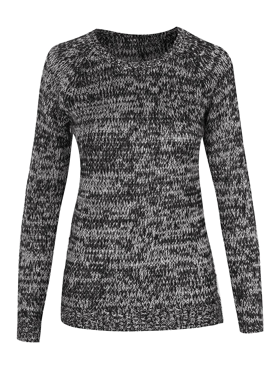 Women's Crewneck Long Sleeve Solid Knit Pullover Sweater Top