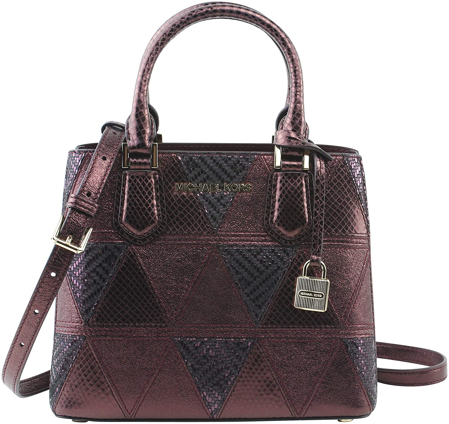0ff2025a44958d MICHAEL Michael Kors Women's Adele Medium Dome Cross-body Bag in Metallic  Merlot Leather, Style 35H8GAFM6K: Amazon.co.uk: Shoes & Bags