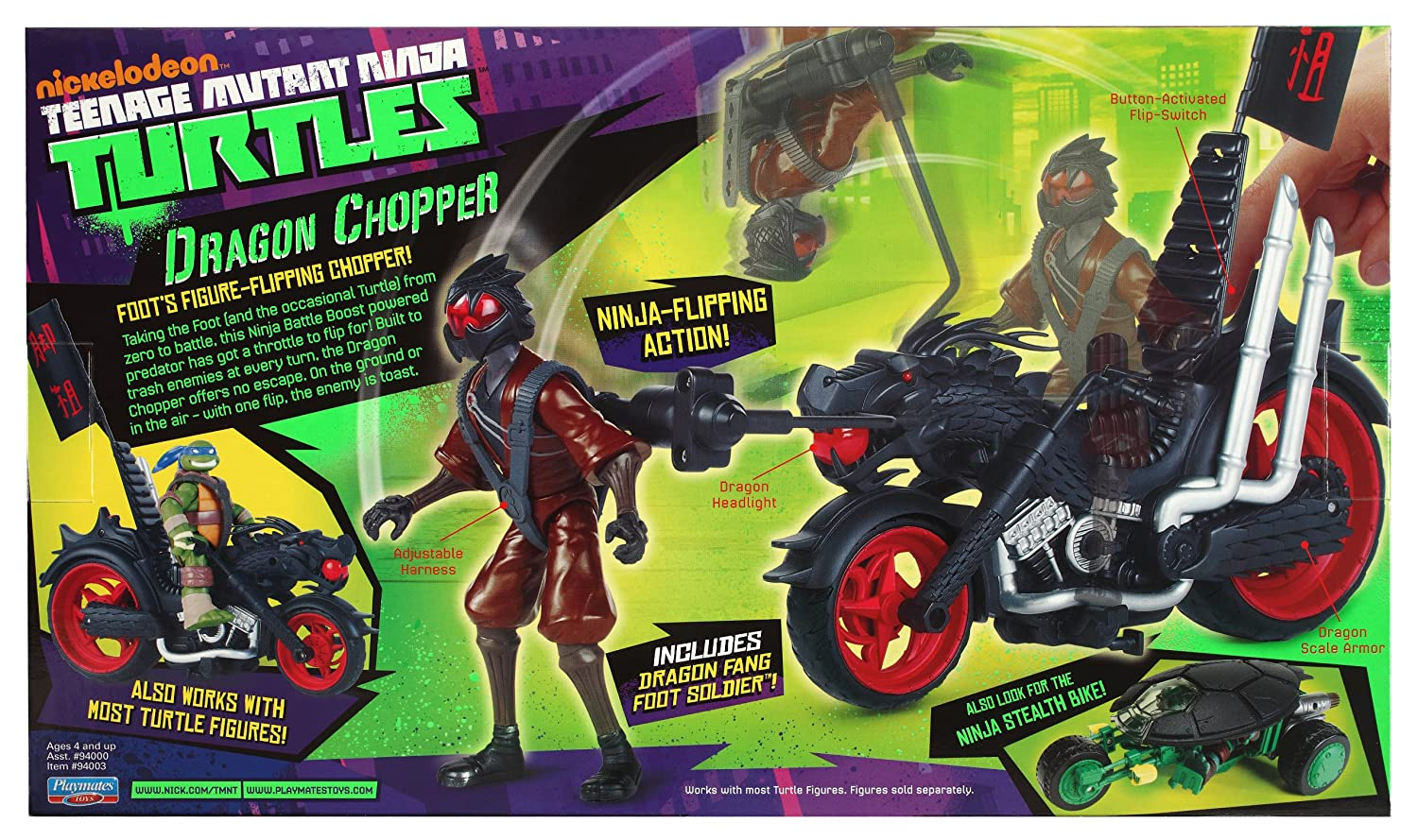 Amazon.com: Teenage Mutant Ninja Turtles Dragon Chopper ...