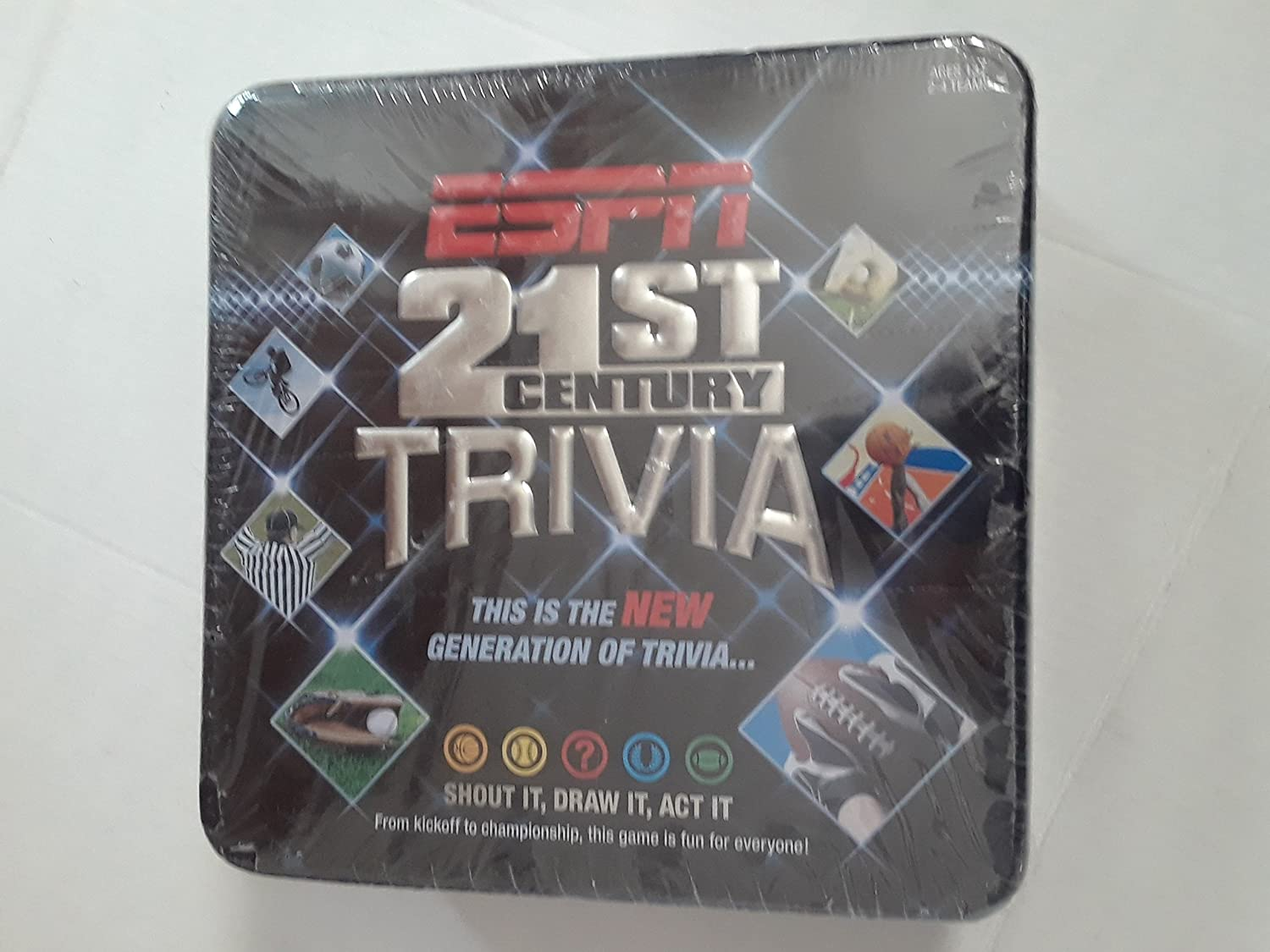 Espn Trivia Board Game In Collector S Tin Toys Games Amazon Com