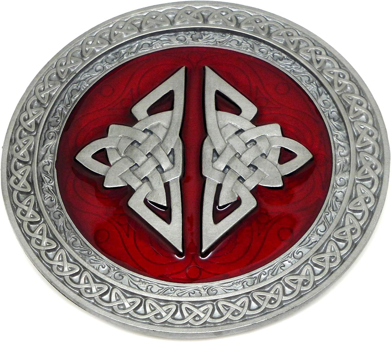 TEDS G/ürtelschnalle schwarz wei/ß oval Design Authentic Dragon Designs Markenware