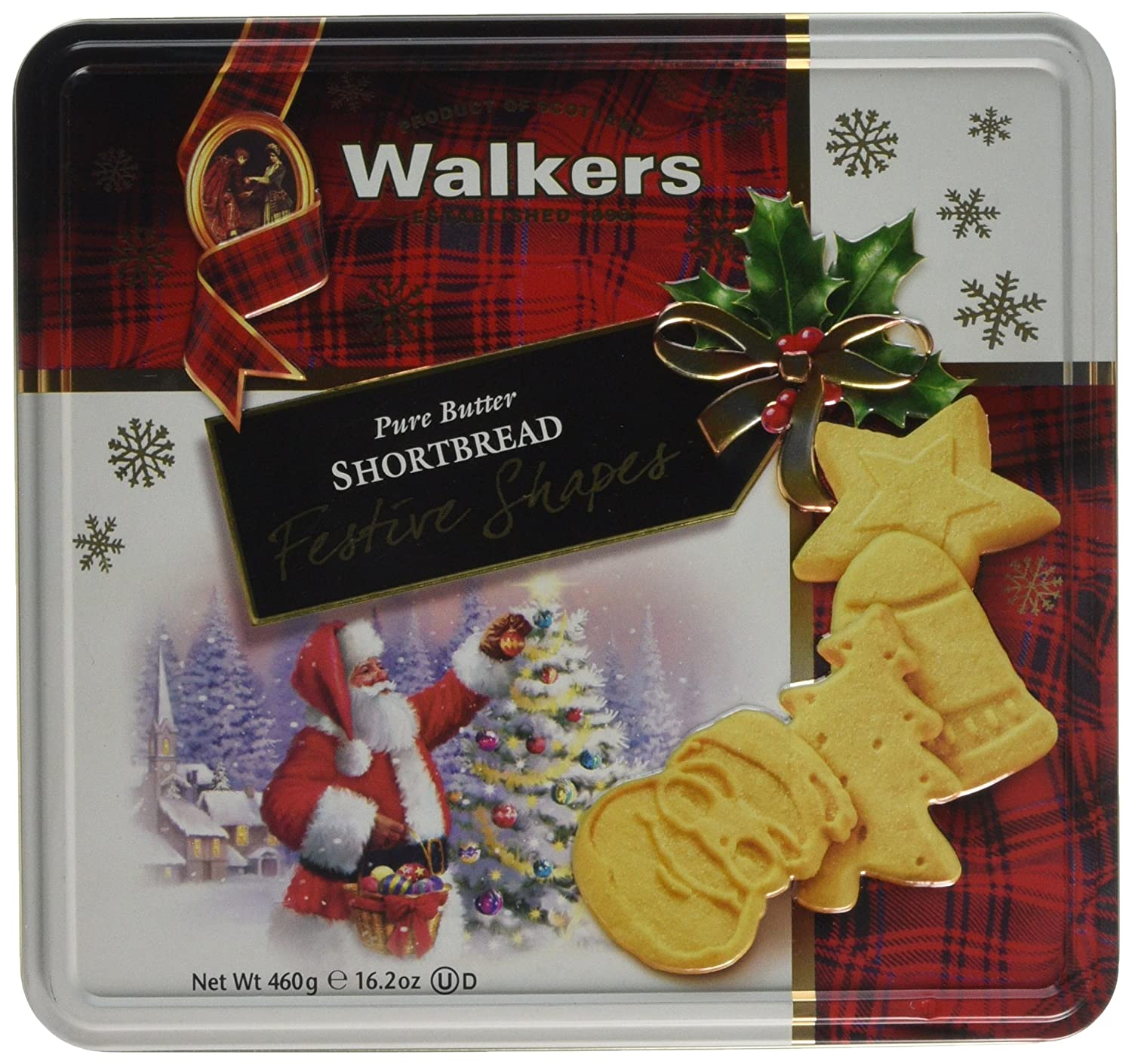 Walkers Shortbread Festive Shapes Tin 460 G