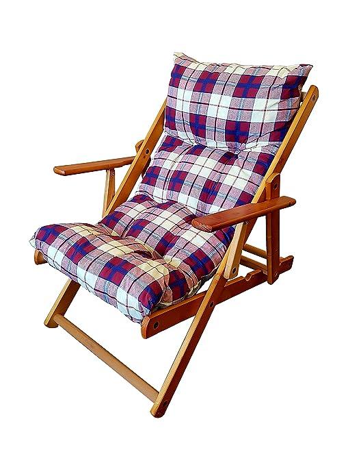 Sillón silla tumbona Harmony Relax de madera plegable 3 ...