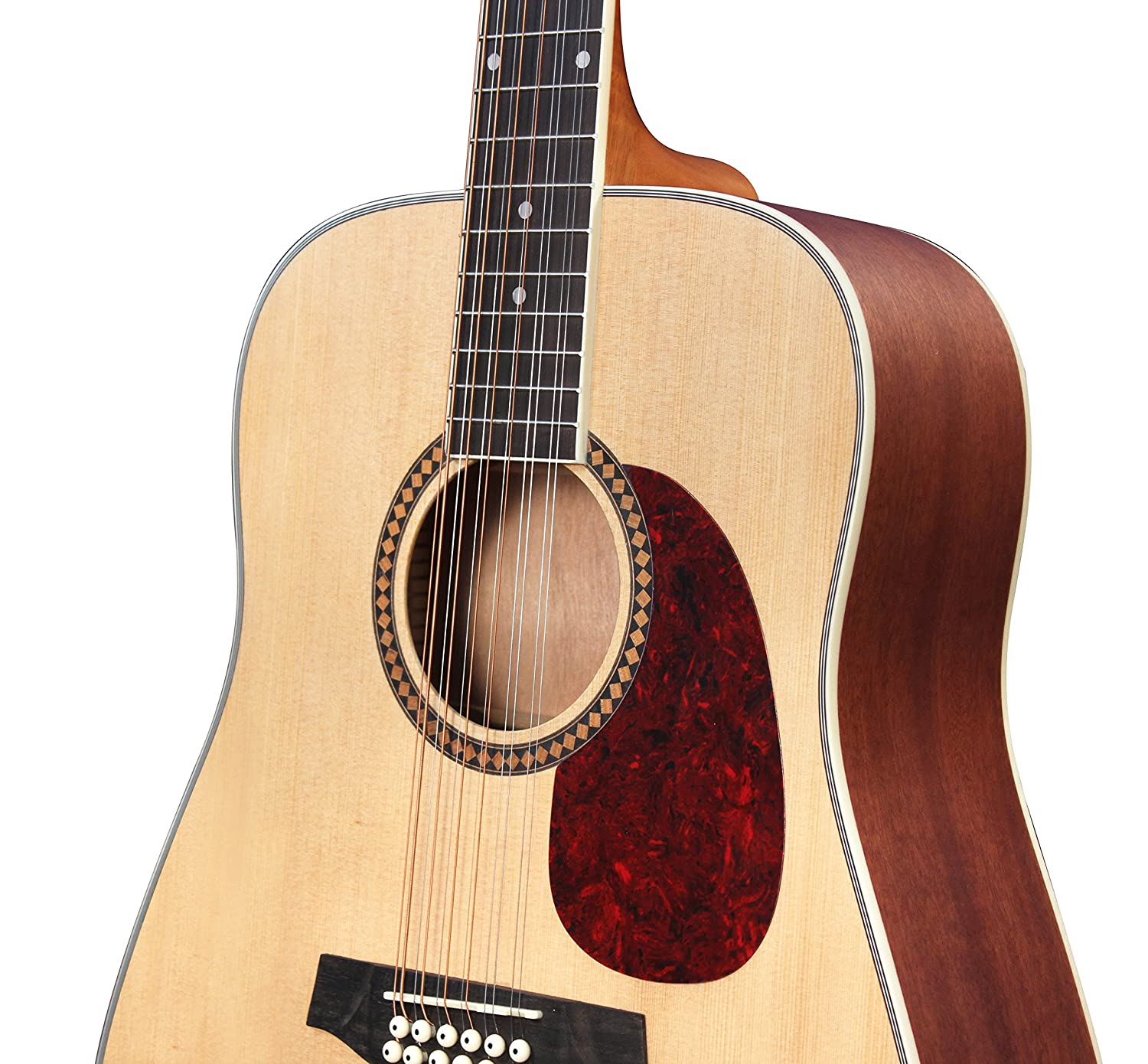ashton d25 12 12 string dreadnought acoustic guitar natural