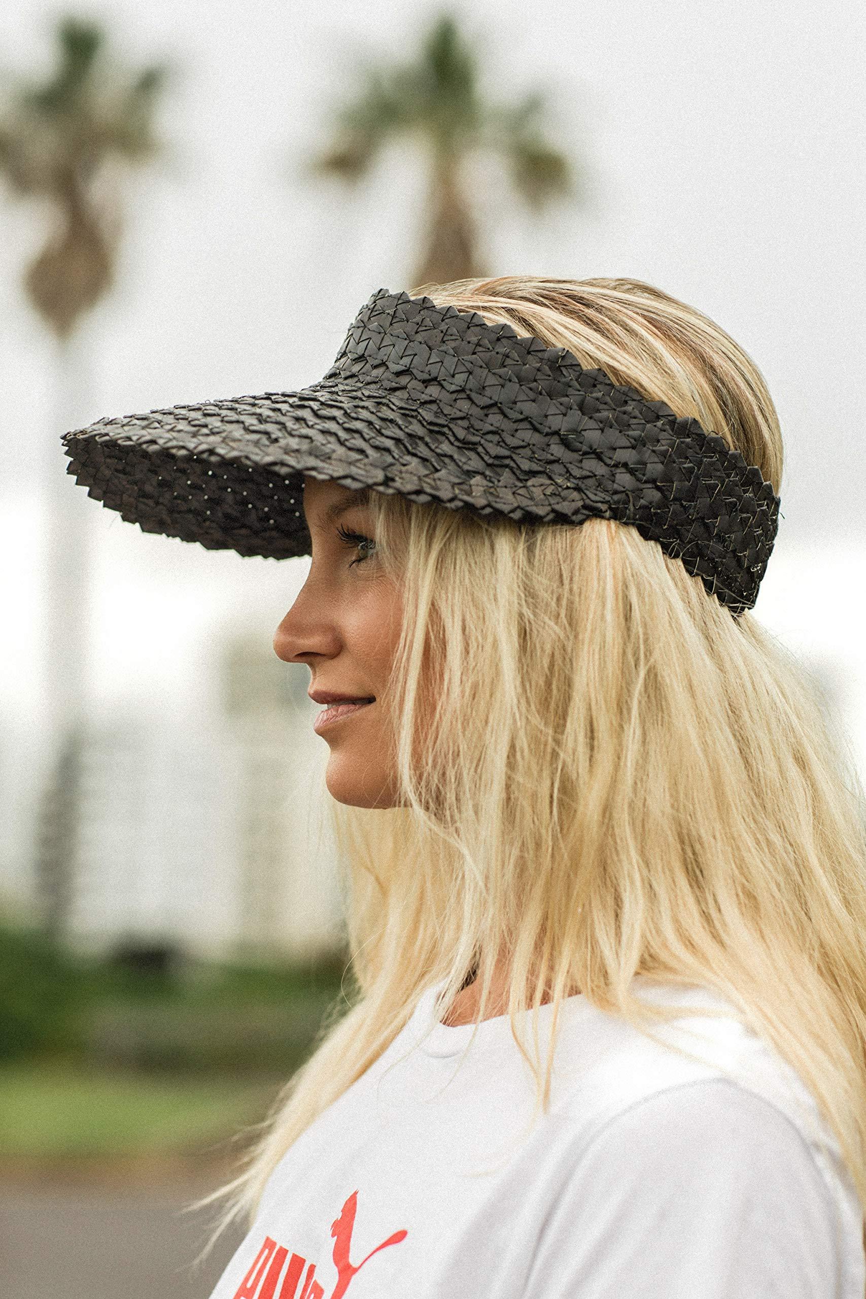 Sun Visor Hat Women Straw Summer Beach Hats Wide Brim Outdoor Camping Hiking