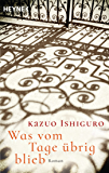 Was vom Tage übrig blieb: Roman (German Edition)