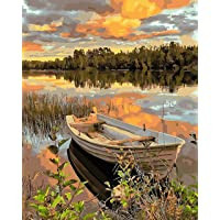 "COLORWORK DIY Paint by Numbers, Canvas Oil Painting Kit for Adults, 16"" W x 20"" L Drawing Paintwork with Paintbrushes…"