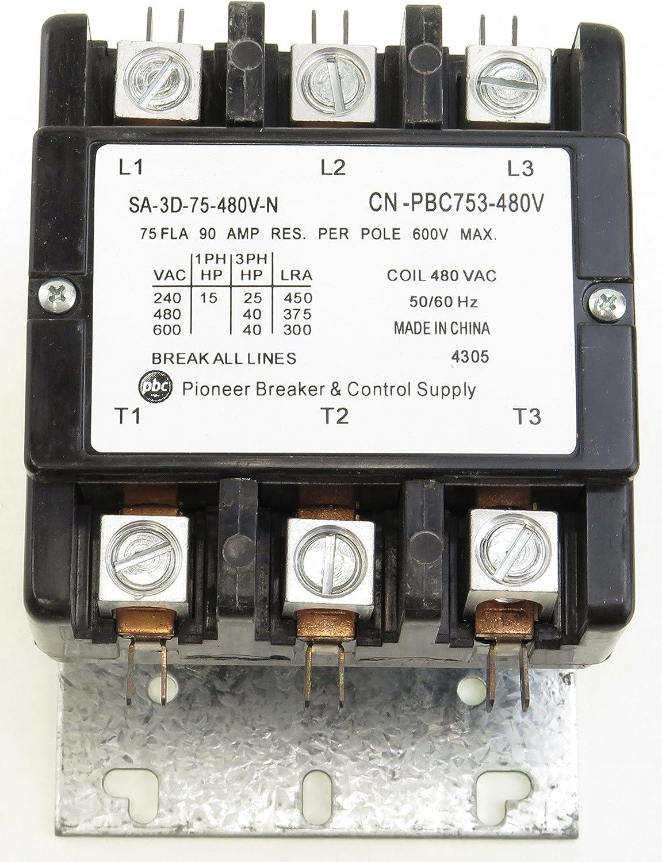 CN-PBC404-480V DEFINITE PURPOSE CONTACTOR 40AMP 4POLE 480VCOIL 40 FLA 50 RES