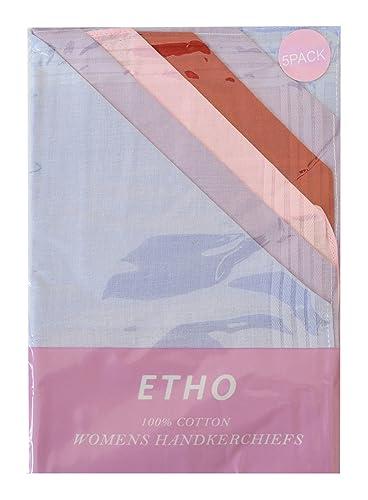 Paquete de 5 mujeres/damas pañuelos, llano teñida, raya del satén, Coners de encaje, bordados, varios estilos