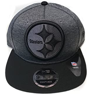 New Era Pittsburgh Steelers 9Fifty 2 Tone Action Heather Action Snapback Hat  Cap NFL … 47cc5b7db76