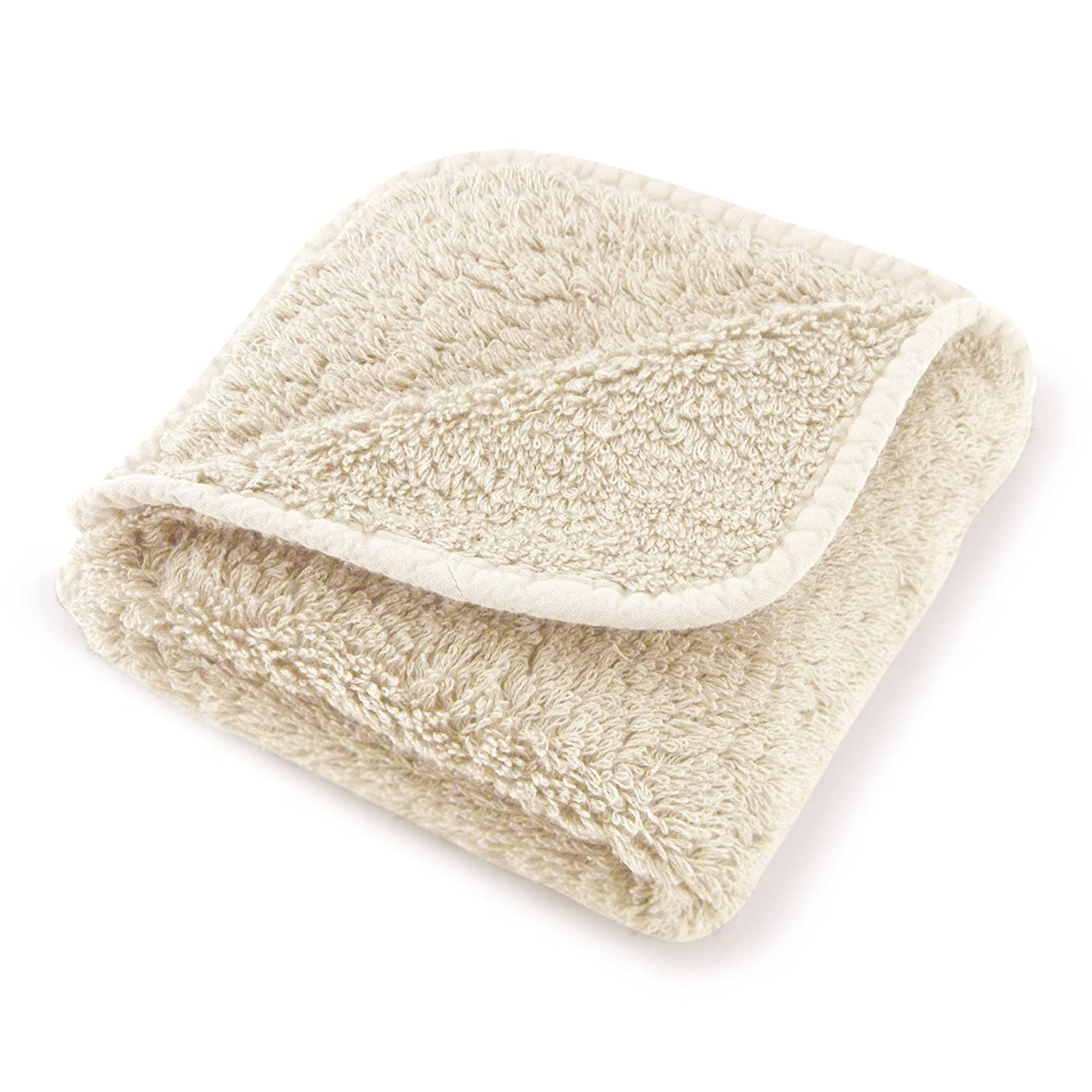 "Abyss Super Pile Wash Cloth (12""x12"") - Ecru (101)"