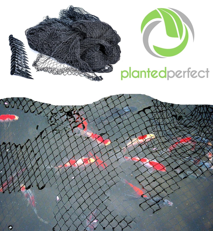 amazoncom 15 x 20 ft pond net cover easy setup pool and fishpond