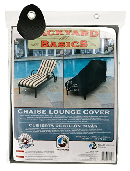 Backyard Basics 07212BB Chaise Lounge Cover 76-Inch by 28-Inch by 30  sc 1 st  Amazon.com : patio chaise lounge covers - Sectionals, Sofas & Couches