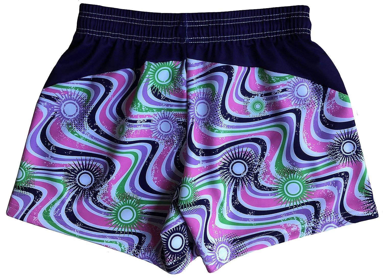 LAX SO HARD Girls Wavy Purple Lacrosse Shorts
