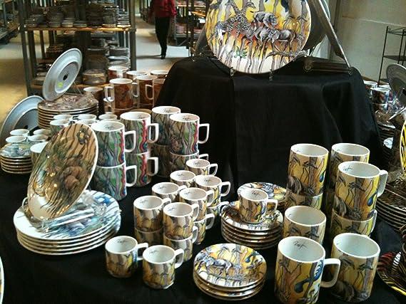 Diseño de porcelana BOPLA Safari amarillo BOPLA! Plato espresso - espresso ASSIETTE - llano espresso - espresso plate - plato espresso ø13 cm, ...