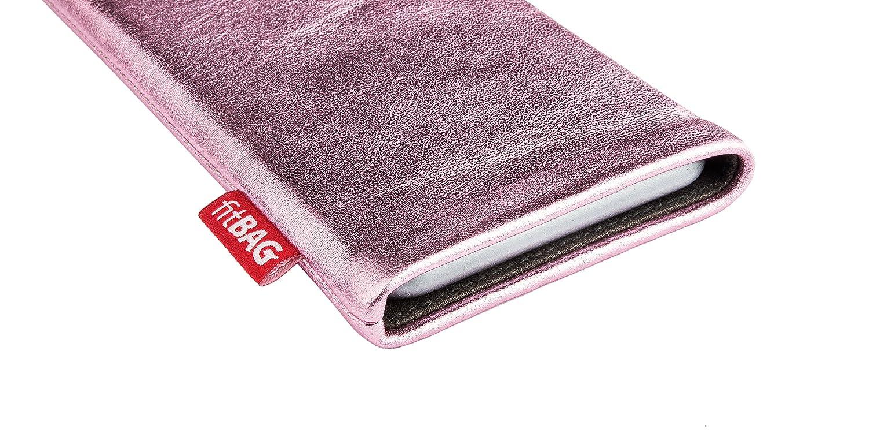 fitBAG Beat Blanca Funda para m/óvil Funda de Exterior de Piel con Forro de Microfibra Interior para Apple iPhone 11 Pro MAX con Limpieza de Pantalla