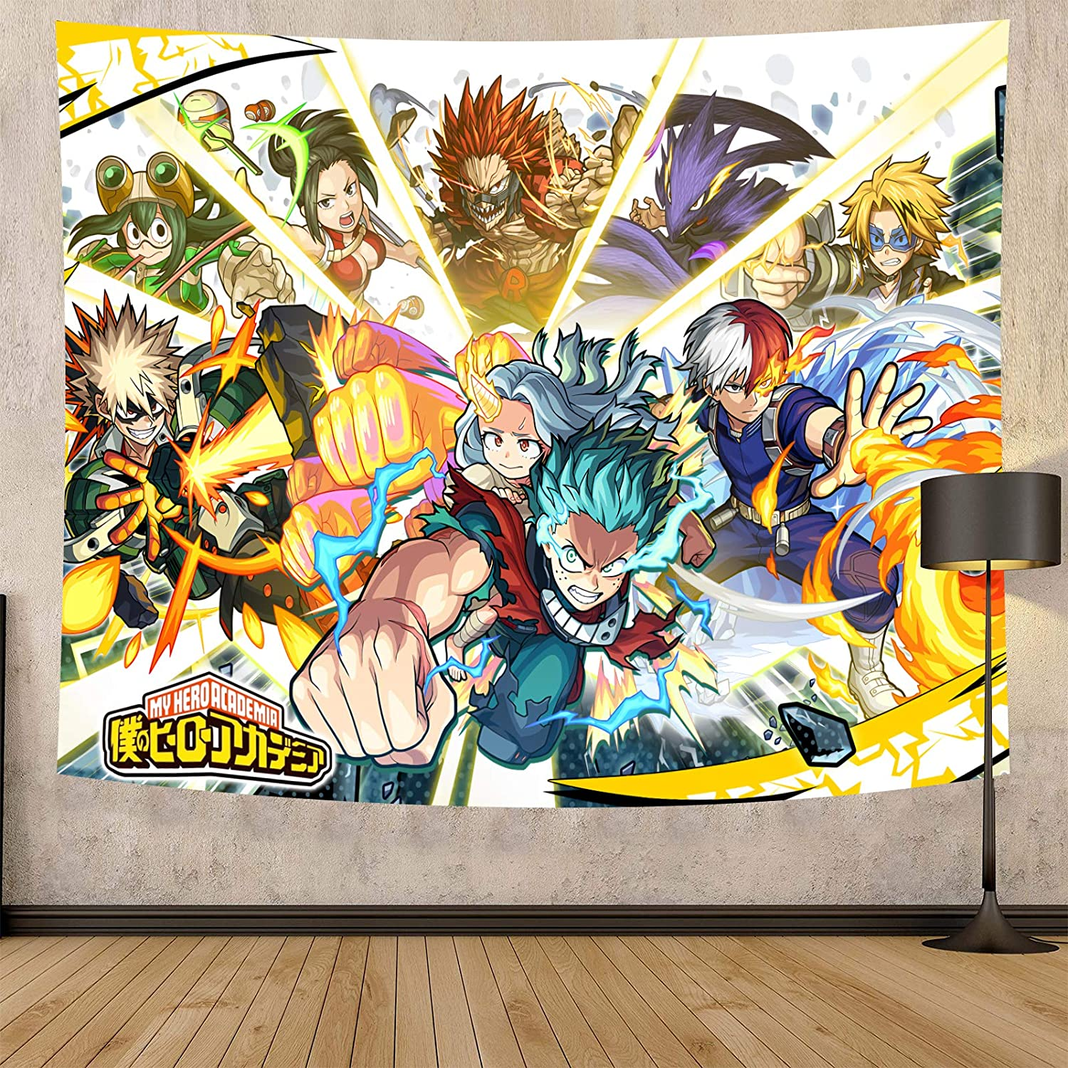 Timimo Anime Poster My Hero Academia-My Hero Academia Tapestry-Anime Tapestry-My Hero Academia Paintings-Can Be In The Living Room, Bedroom, 59 X 80 Inches, Posters And Anime Fans Favorite (Hero academia anime poster, 60 x 80in)