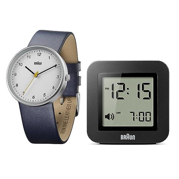 Braun Reloj Hombre de Analogico con Correa en Cuero BN0231WHBL/BNC018BK: Amazon.es: Relojes