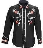 Redstar Rodeo Mens Black Red Western Cowboy Shirts