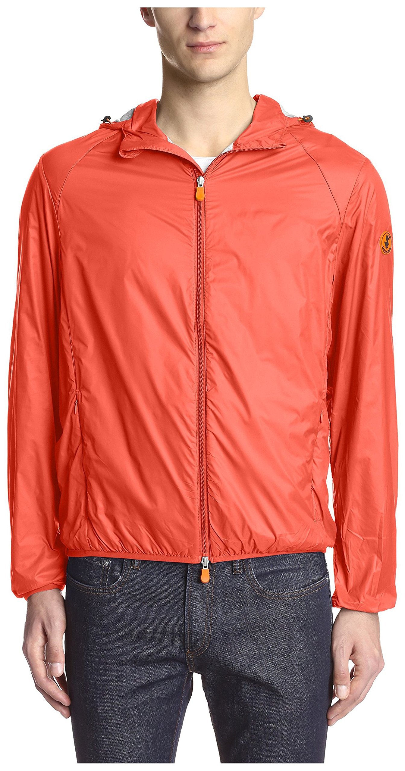 Save The Duck Men's Hooded Lightweight Jacket, Love Red, M