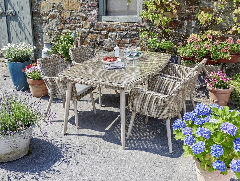 Gartenmöbel Landhaus rattan gartengarnitur lounge gartenset sitzgruppe gartenmöbel
