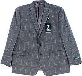 Lauren By Ralph Lauren Mens Two Button Wool Blazer Gray 36