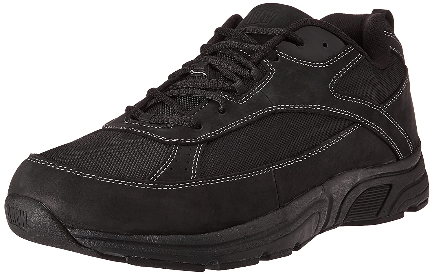 Drew Shoe Men's Aaron Oxford 7.5 D(M) US|Black Leather/Nylon
