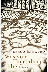 Was vom Tage übrig blieb: Roman (German Edition) Kindle Edition