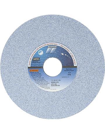 Norton 38A46-JVBE Type 01 Vitrified Straight Toolroom Grinding Wheel 46 Grit Grade J 7 Diameter x 1//2 Width Aluminum Oxide White Pack of 1 1-1//4 Arbor