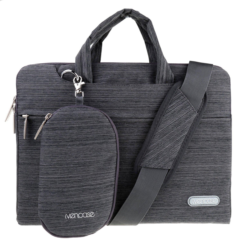 ivencase laptop shoulder bag suit fabric portable briefcase for all 13 13 3 inch tablet