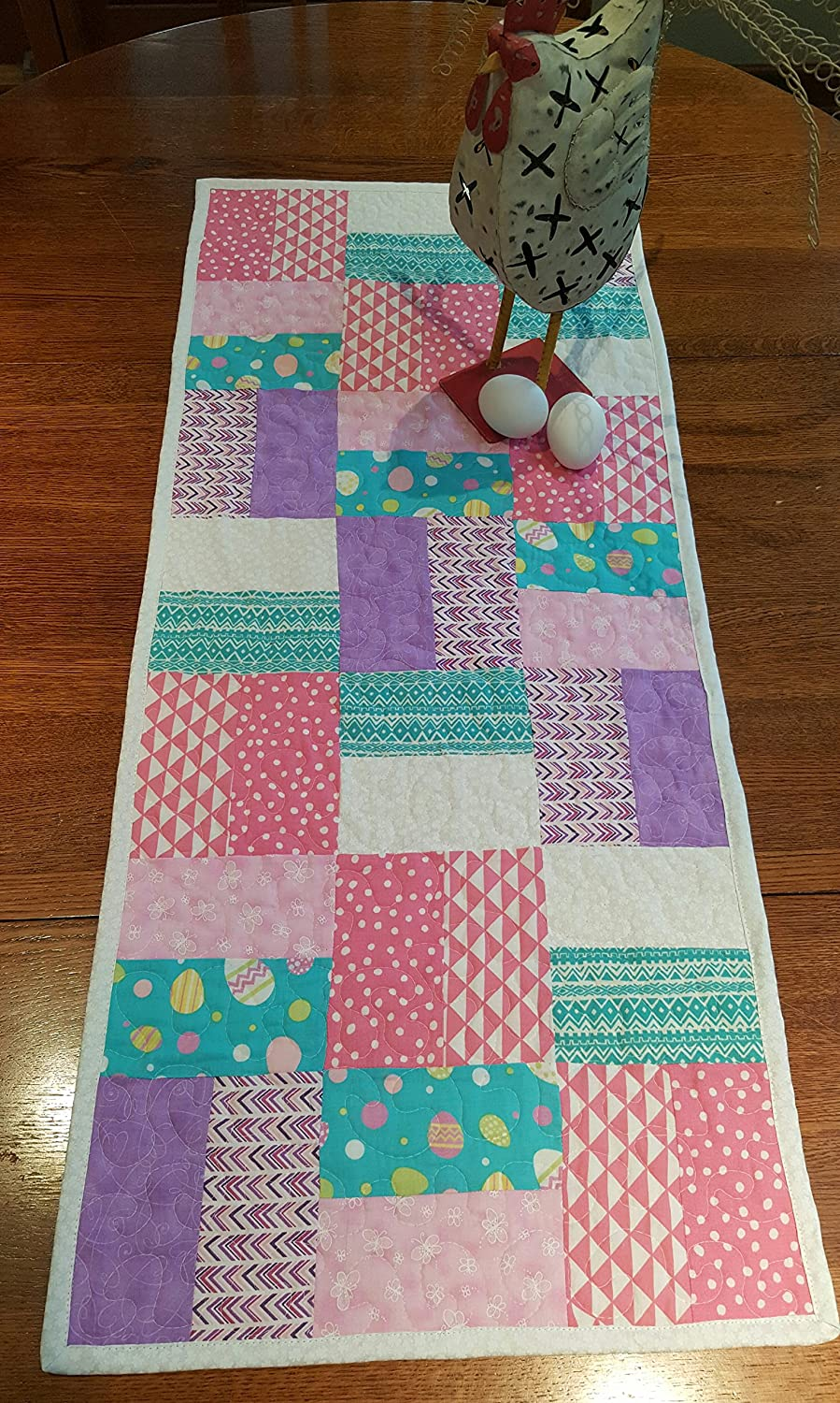 P. Cottontail Quilted Easter Table Runner - Spring Fabrics and Free Shipping!
