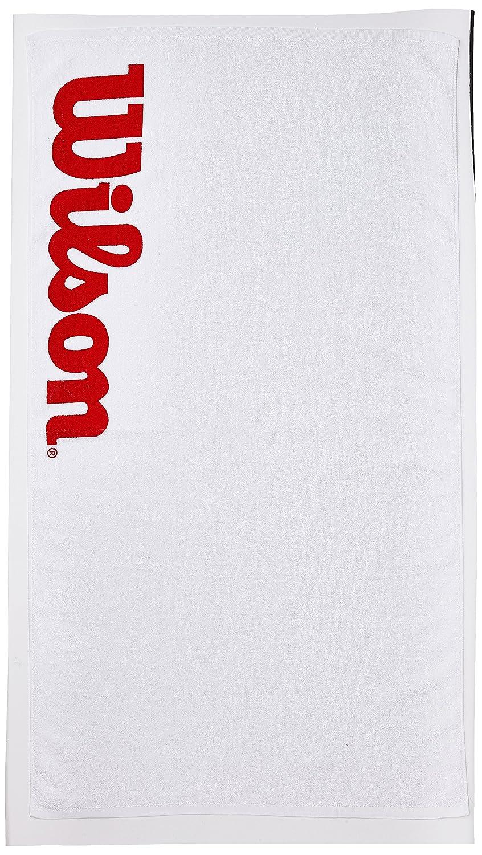 Wilson Toalla deportiva para manos, Sport Towel, Blanco/Rojo, WRZ540100