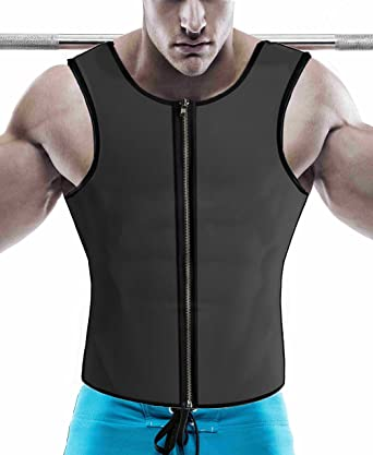 57020139c5700 Waist Trainer for Men Body Shaper Hot Neoprene Compression Muscle Tank Top  for Weight Loss Workout