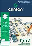 Canson 1557 204127415 Papier à dessin Grain Léger Blanc Pur