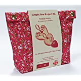 Liberty inspired Print Simple Sewing / Craft Kit - Make your own Floral Padded Hearts (Bright)