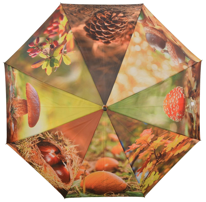 Parapluie Automne Esschert Collection Nature Print 120 x 120 x 95 cm TP208