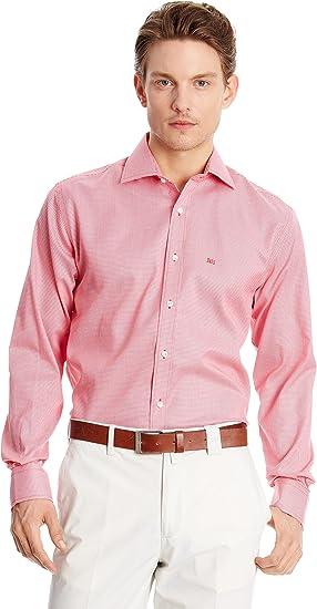 Pedro del Hierro Camisa Hombre Rojo M: Amazon.es: Ropa y ...