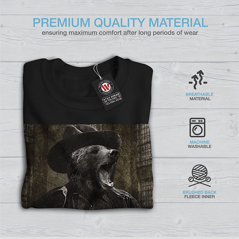 wellcoda Mr Bear Beast Wild Mens Sweatshirt Grylls Casual Jumper