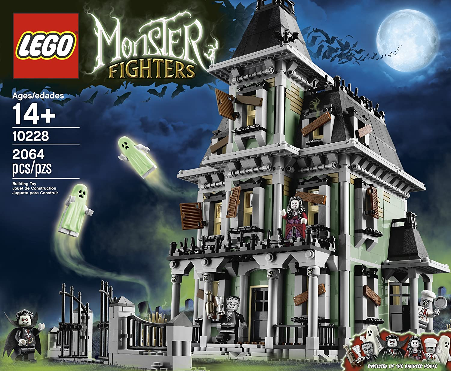 amazoncom lego monster fighters haunted house 10228 toys games - Lego Halloween Train