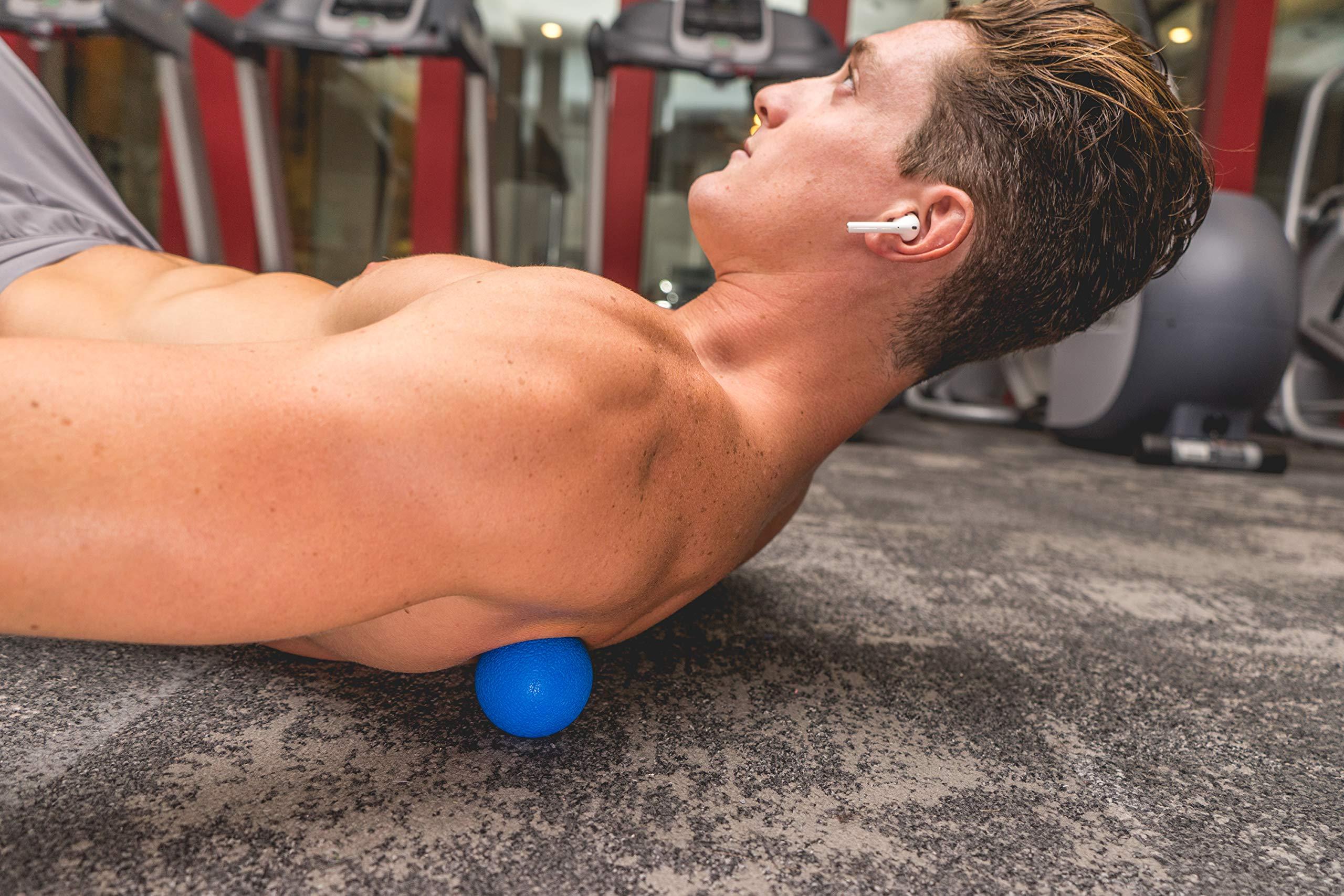 Muscle Massage Foam Roller Kit Back Massager Roller - 4 in 1 Best Trigger Point Massage Tool Lacrosse Roller Ball Massager Stick by Roller Buddy (Image #8)