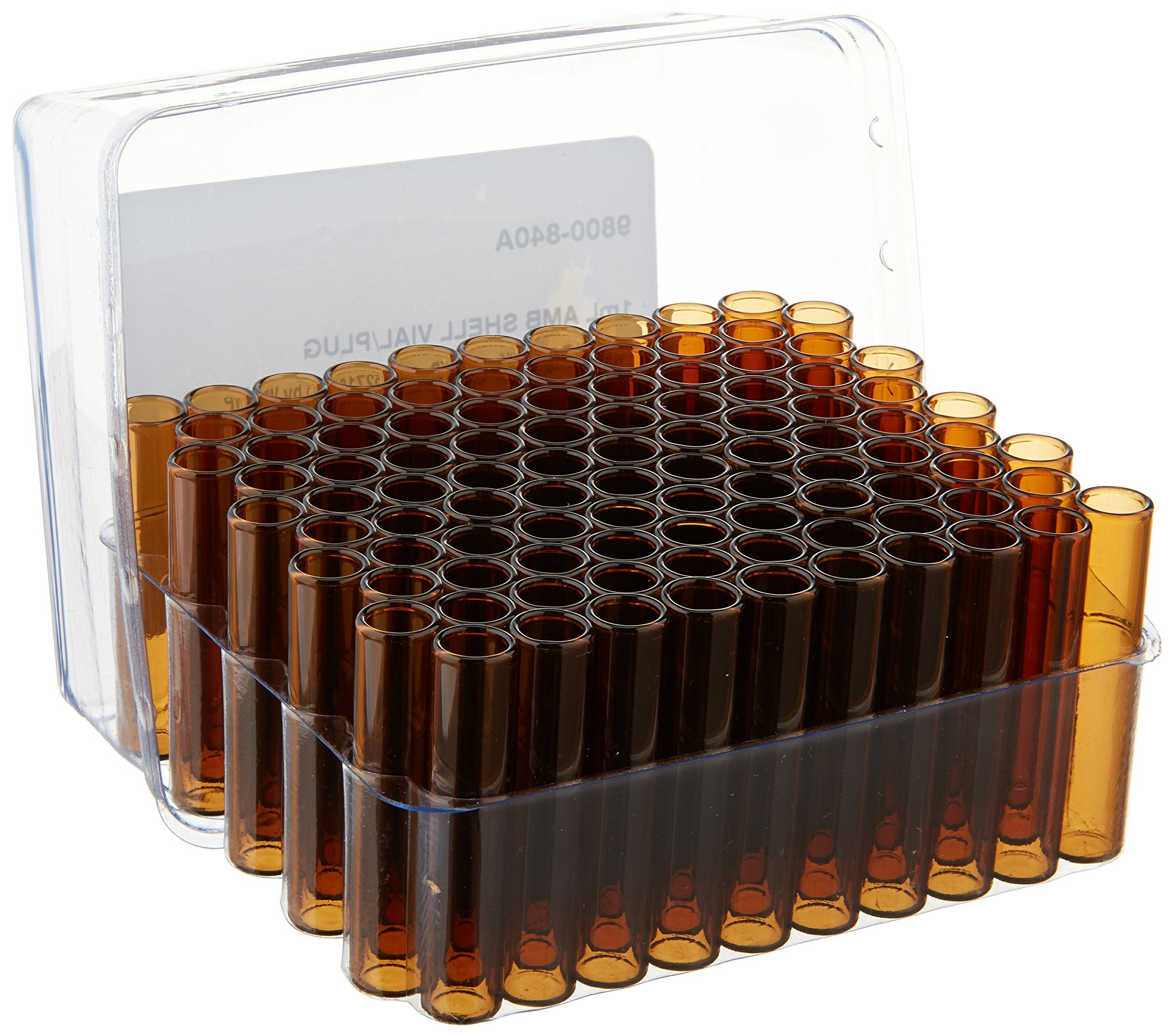 JG Finneran 9800-840A Shell Vial and Plug Convenience Pack, 1mL Capacity, Amber (Case of 1000)