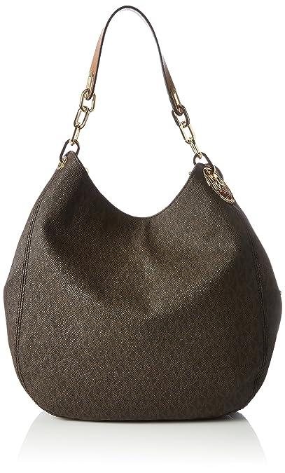 3c30a6fa6533 MICHAEL Michael Kors Signature Large Fulton Shoulder Bag (Brown)   Amazon.in  Shoes   Handbags