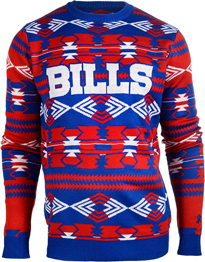 Forever Collectibles NFL Men/'s Buffalo Bills 2015 Aztec Ugly Sweater