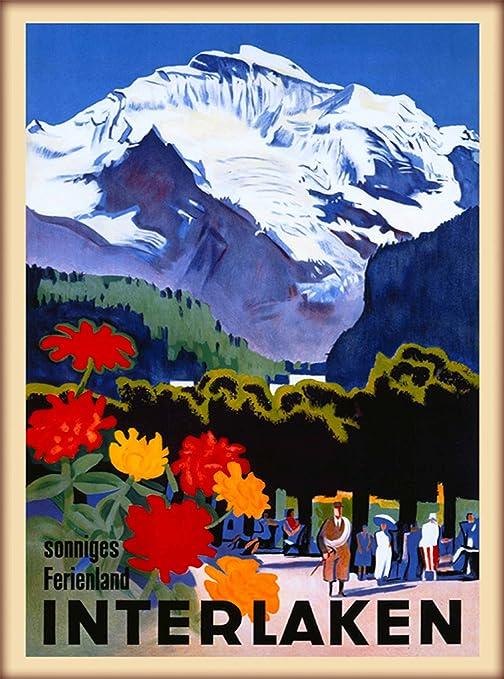 Amazon.com: 1935 sonniges Ferienland Interlaken Berna Suiza ...