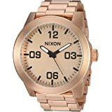 Nixon Men's Corporal SS Japanese-Quartz Watch with Stainless-Steel Strap, Rose Gold, 24 (Model: A346897)