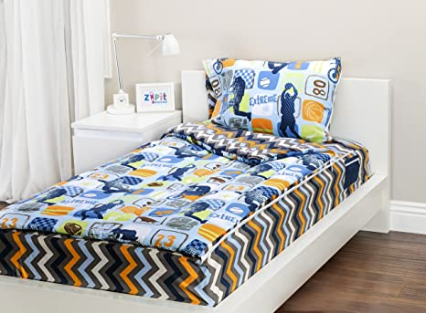 Amazon Zipit Bedding Set Extreme Sports Twin Zip Up Your