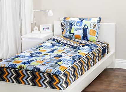 Possible tell, striped black white bedding 1241