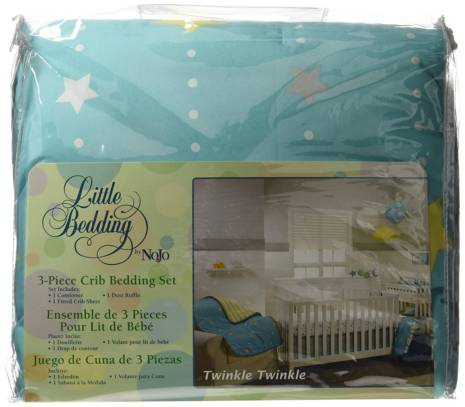 Amazon.com : Little Bedding by NoJo Twinkle Twinkle 3 Piece Crib Set : Baby