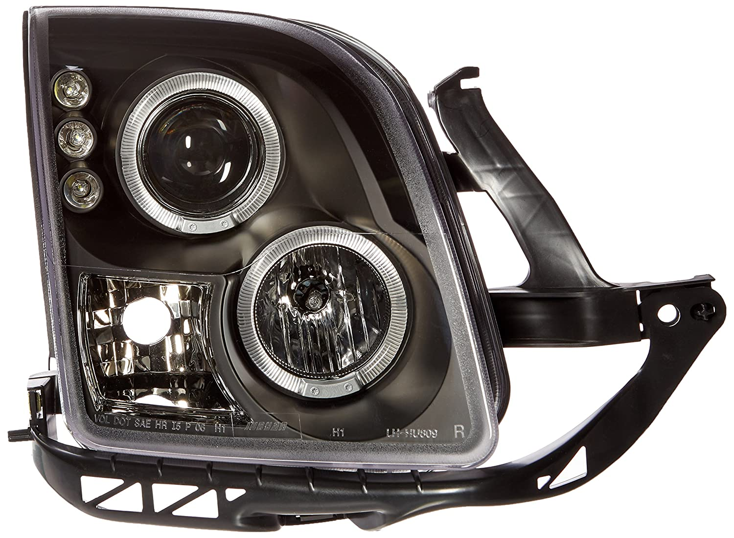 Spec-D Tuning LHP-FUS06JM-TM Ford Fusion Dual Halo Led Projector Head Lights