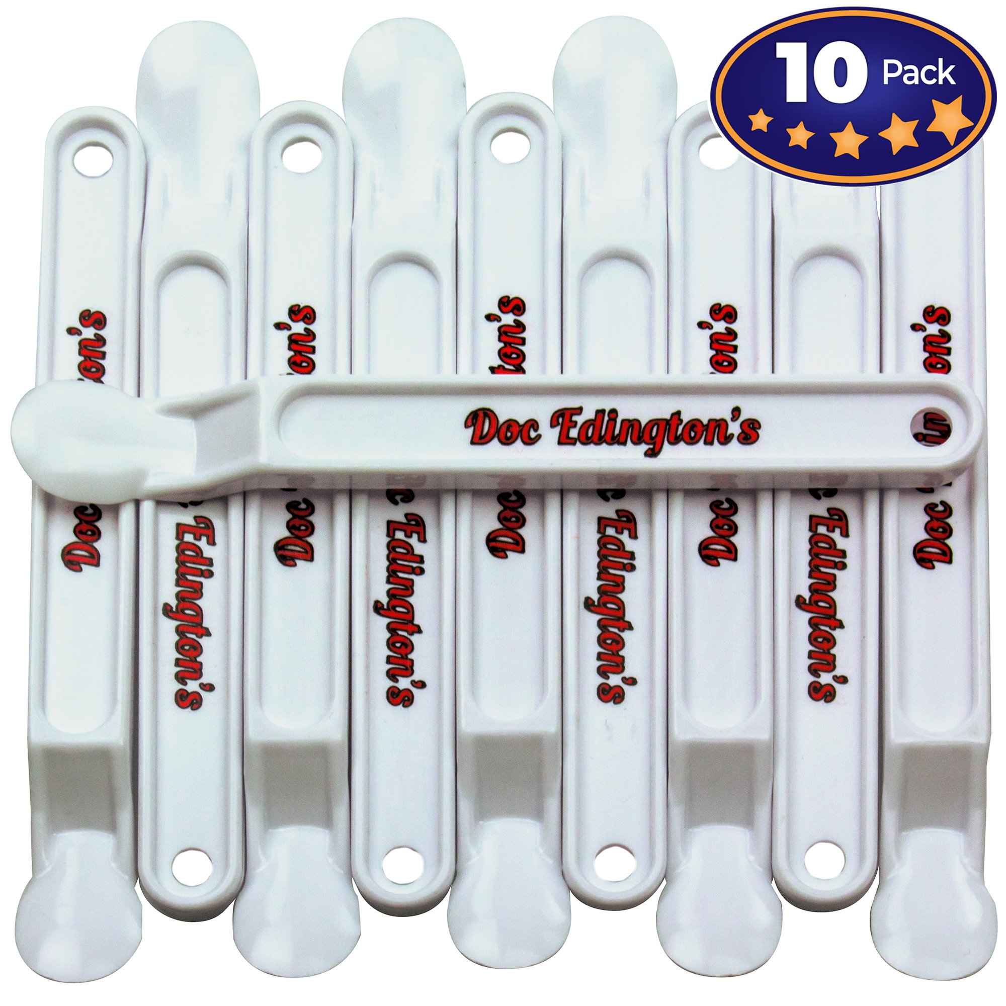Doc Edingtons Scotty Peeler 10 Pack. Pro-Grade Label Scraper/Sticker Removal Tool Works Great & Safer Than Razor Blade Scrapers. Use This Plastic Scraper With Our Adhesive Remover for Best Results.